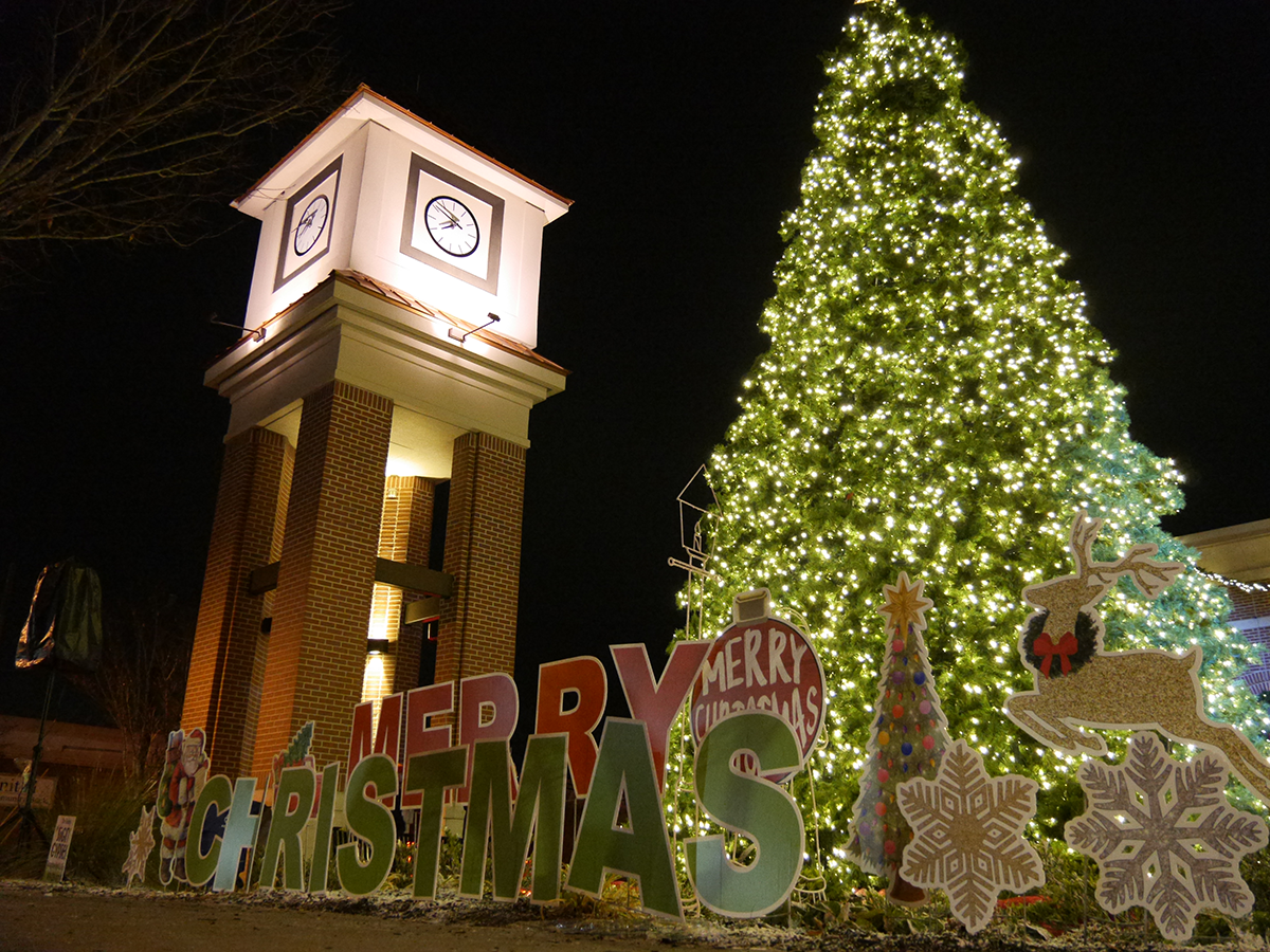 2018 Christmas tree and clock tower
